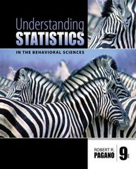 Understanding Statistics in the Behavioral Sciences 9th Edition 9780495596523 0495596523
