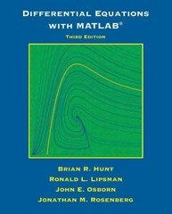 Differential Equations with Matlab 3rd Edition 9781118376805 1118376803
