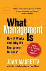 What Management Is 1st Edition 9780743203197 0743203194