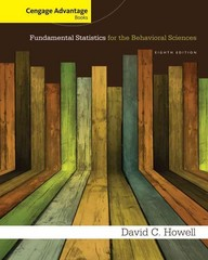 Cengage Advantage Books: Fundamental Statistics for the Behavioral Sciences 8th Edition 9781285081809 1285081803
