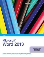 New Perspectives on Microsoft Word 2013, Brief 1st Edition 9781285091174 1285091175