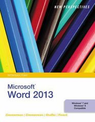 New Perspectives on Microsoft Word 2013, Introductory 1st Edition 9781285966267 1285966260