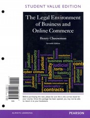 Legal Environment of Business and Online Commerce, The, Student Value Edition 7th edition 9780133080117 0133080110