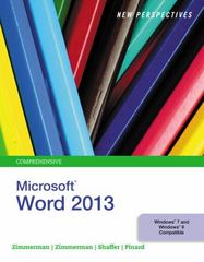 New Perspectives on Microsoft Word 2013, Comprehensive 1st Edition 9781305178557 1305178556