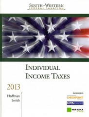 South-Western Federation Taxation Individual Income Taxes 2013 36th edition 9781133188704 1133188702