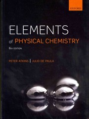 Elements of Physical Chemistry 6th Edition 9780199608119 0199608113