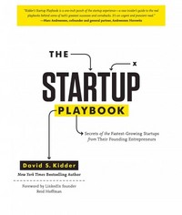 The Startup Playbook 1st Edition 9781452105048 1452105049
