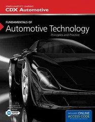 Fundamentals Of Automotive Technology 1st Edition 9781449671082 144967108X