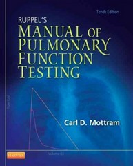 Ruppel's Manual of Pulmonary Function Testing 10th Edition 9780323085052 0323085059
