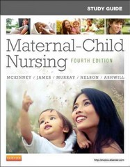 Study Guide for Maternal-Child Nursing 4th Edition 9781455737499 1455737496