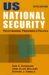 US National Security 5th Edition 9781588268563 158826856X