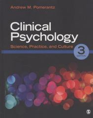 Clinical Psychology 3rd edition 9781452225319 1452225311