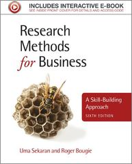 Research Methods for Business 6th edition 9781119942252 111994225X