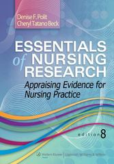 Essentials of Nursing Research 8th Edition 9781451176797 1451176791