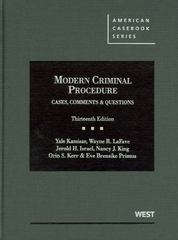 Modern Criminal Procedure 13th Edition 9780314911674 0314911677