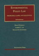 Doremus, Lin and Rosenberg's Environmental Policy Law, 6th 6th Edition 9781609301736 1609301730