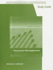 Study Guide for Financial Management: Theory & Practice 14th Edition 9781285098180 1285098188