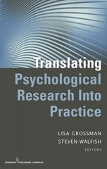 Translating Psychological Research into Practice 1st Edition 9780826109422 082610942X