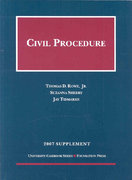 Civil Procedure Supplement 2007th edition 9781599413051 1599413051