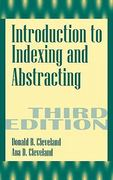 Introduction to Indexing and Abstracting 3rd edition 9781563086410 1563086417