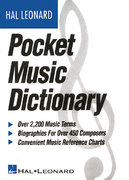The Hal Leonard Pocket Music Dictionary 1st Edition 9780793516544 0793516544