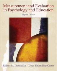 Measurement and Evaluation in Psychology and Education 8th Edition 9780132403979 0132403978