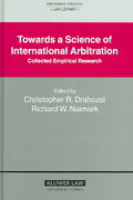 Towards a Science of International Arbitration 1st edition 9789041123220 9041123229