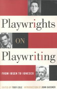 Playwrights on Playwriting 0 9780815411413 0815411413