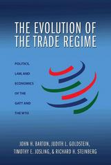 The Evolution of the Trade Regime 0 9780691136165 0691136165