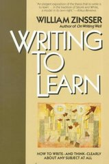 Writing to Learn 1st Edition 9780062720405 0062720406