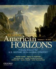 Reading American Horizons 1st Edition 9780199768493 0199768498