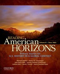 Reading American Horizons 1st Edition 9780199768509 0199768501