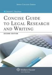 Concise Guide to Legal Research and Writing 2nd Edition 9781454820512 1454820519