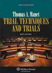 Trial Techniques and Trials 9th Edition 9781454822332 1454822333