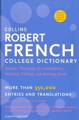Collins Robert French College Dictionary, 8th Edition 8th Edition 9780062233301 0062233300