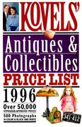 Kovels& Antiques and Collectibles Price List 1996 28th edition 9780517884621 0517884623
