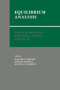 Essays in Honor of Kenneth J. Arrow: Volume 2, Equilibrium Analysis 1st edition 9780521063821 0521063825