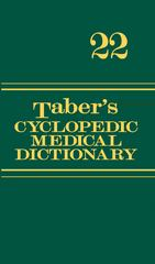 Taber's Cyclopedic Medical Dictionary 22th Edition 9780803639096 0803639090