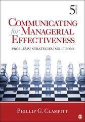 Communicating for Managerial Effectiveness 5th Edition 9781412992046 1412992044