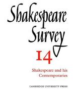Shakespeare and His Contemporaries 0 9780521523509 0521523508
