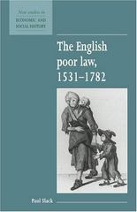 The English Poor Law, 1531-1782 2nd Edition 9780521557856 0521557852