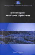 Remedies Against International Organisations 1st edition 9780521047241 0521047242