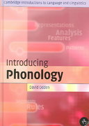 Introducing Phonology 0 9780521534048 0521534046