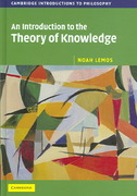 An Introduction to the Theory of Knowledge 1st Edition 9780511271182 0511271182