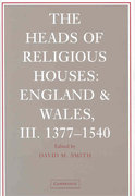 The Heads of Religious Houses 0 9780521865081 0521865085