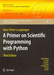 A Primer on Scientific Programming with Python 3rd Edition 9783642302923 3642302920