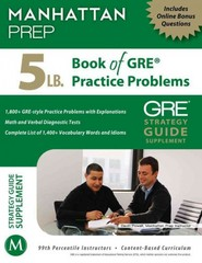 5 lb. Book of GRE Practice Problems 1st Edition 9781937707293 1937707296