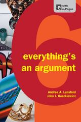 Everything's an Argument 6th Edition 9781457606069 1457606062