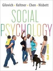 Social Psychology 3rd Edition 9780393138481 0393138488