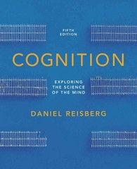 Cognition 5th Edition 9780393138405 0393138402